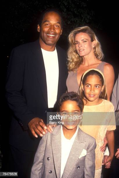 OJ Simpson Nicole Brown Simpson and OJ's children attend the Naked Gun 33 1/3 Premiere at the Paramount Pictures Studio Backlot in Hollywood CA