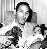 J Simpson who was selected as the number 1 overall draft pick by the Buffalo Bills holds his twomonth old daughter Arnelle on January 28 1969 in San...