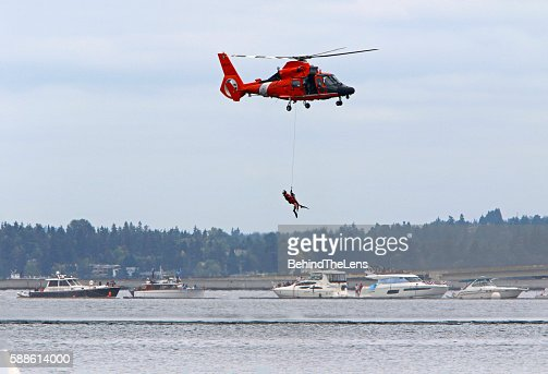 Simulated Coast Guard ocean rescue