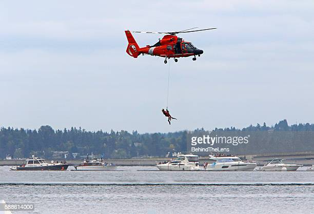 Simulated Coast Guard ocean rescue