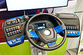 Simulator steering wheel and dashboard panel of electric bus