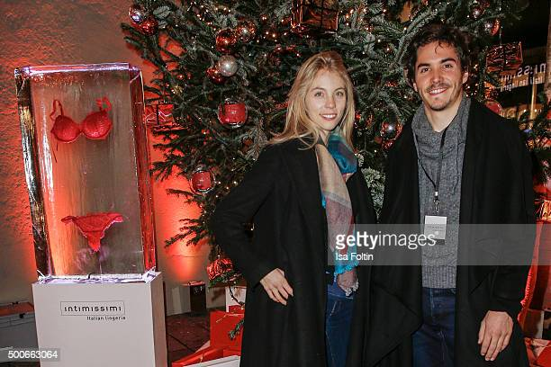 Sina Hentschel and Francois Goeske attend the INTIMISSIMI Christmas Reception on December 09 2015 in Munich Germany