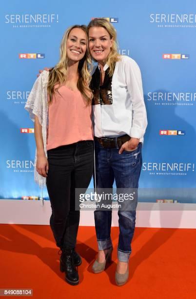 Sina Tkotsch and Mirja Boes attend 'RTL Serienreif' Press Talk and Photcall at Trend Kueche und Club on September 18 2017 in Hamburg Germany