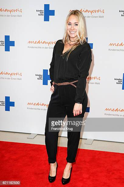Sina Tkotsch attends the 18th Media Award by Kindernothilfe at Volkswagen Group Forum on November 4 2016 in Berlin Germany
