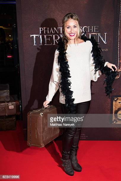 Sina Tkotsch attends the 'Fantastic Beasts and Where to Find Them' live event at CineStar on November 15 2016 in Berlin Germany