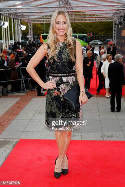 Sina Tkotsch attends the UFA 100th anniversary celebration at Palais am Funkturm on September 15 2017 in Berlin Germany