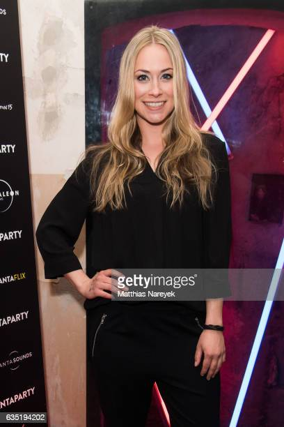 Sina Tkotsch Isabell Pollack and attend the Pantaflix Party during the 67th Berlinale International Film Festival Berlin at the Grand on February 13...
