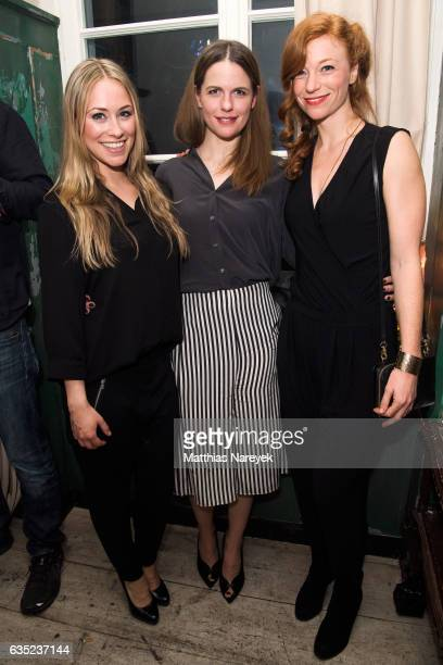 Sina Tkotsch Isabell Pollack and guest attend the Pantaflix Party during the 67th Berlinale International Film Festival Berlin at the Grand on...