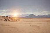 Sinai desert at sunset