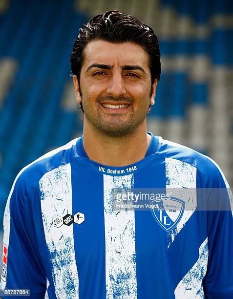 Sinan Kaloglu poses during the VfL Bochum team presentation at the rewirpower stadium on June 29 2009 in Bochum Germany