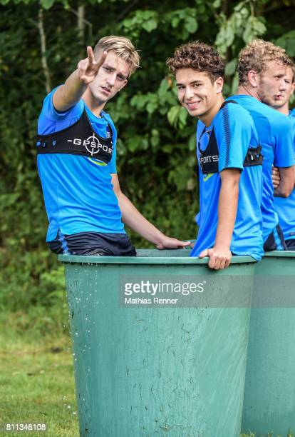 Sinan Kurt and Maurice Covic during the second day of the training camp of Hertha BSC on july 8 2017 in Bad Saarow Germany