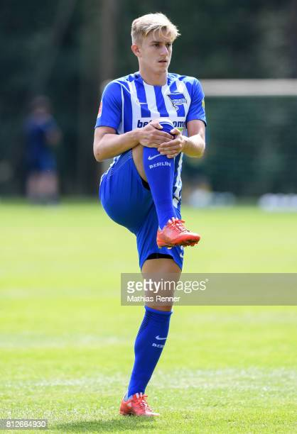 Sinan Kurt during the training camp of Hertha BSC on july 11 2017 in Bad Saarow Germany