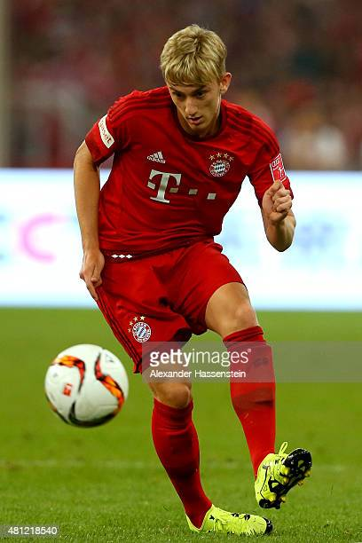 Sinan Kurt of FC Bayern Muenchen runs with the ball during the international friendly match between FC Bayern Muenchen and Valencia FC of the Audi...