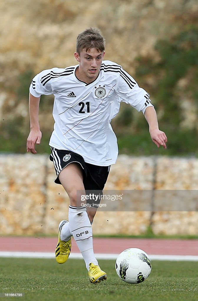 Sinan Kurt of Germany during the Under17 Algarve Youth Cup match between U17 Portugal and U17 Germany at the Stadium Bela Vista on February 12, 2013 in Parchal, Portugal.