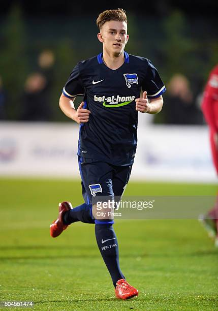 Sinan Kurt of Hertha BSC during the friendly match between Hertha BSC against Hannover 96 on January 11 2016 in Belek Turkey