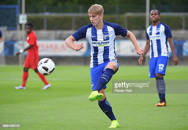 Sinan Kurt of Hertha BSC during the test match between Hertha BSC and AlJazira FC on august 6 2016 in Berlin Germany