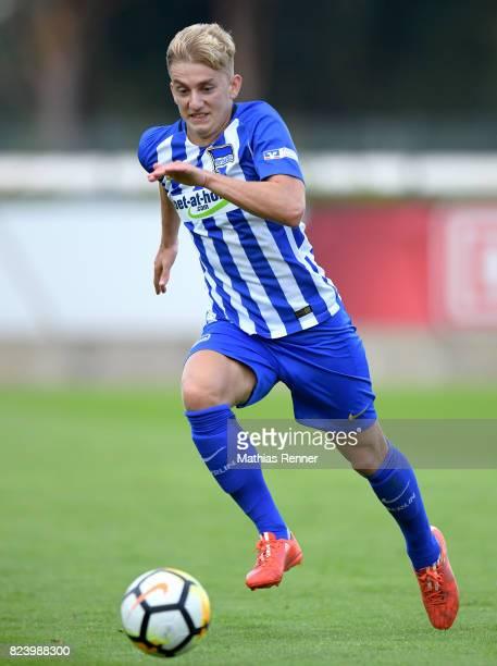Sinan Kurt of Hertha BSC during the test match between Hertha BSC and Club Italia Berlino on july 28 2017 in Berlin Germany