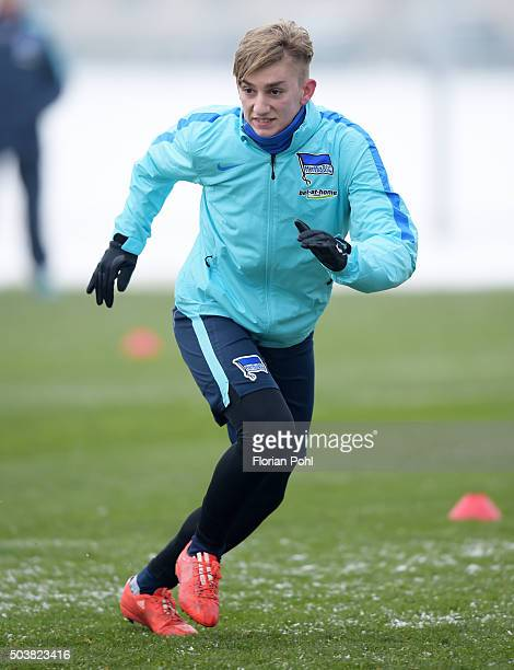 Sinan Kurt of Hertha BSC during the training of Hertha BSC on january 7 2016 in Berlin Germany