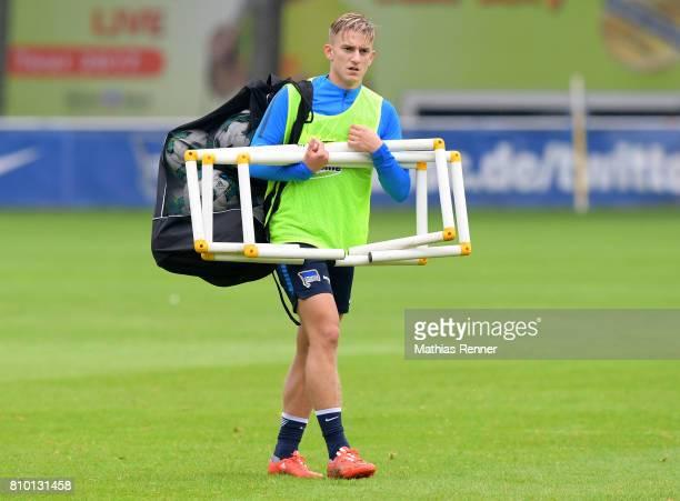 Sinan Kurt of Hertha BSC during the training on July 7 2017 in Berlin Germany