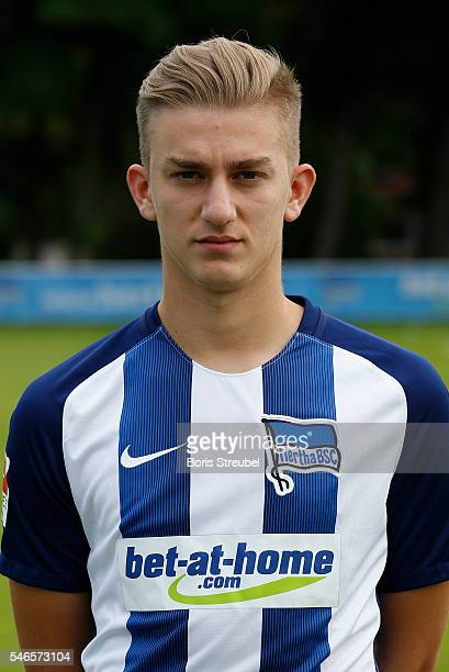 Sinan Kurt of Hertha BSC poses during the Hertha BSC Team Presentation on July 12 2016 in Berlin Germany