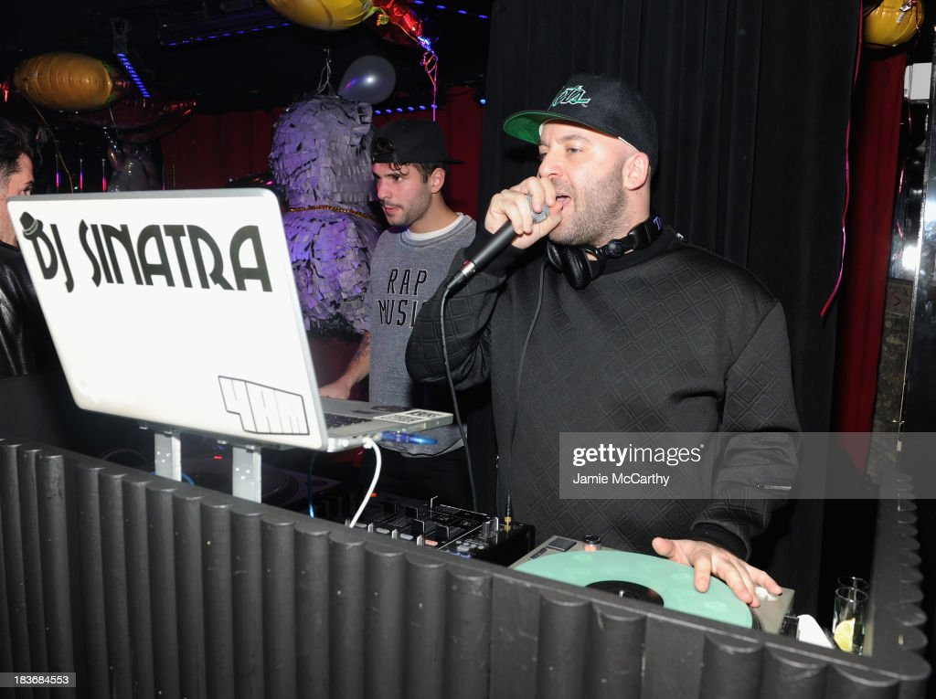 DJ Sinatra attends Miley Cyrus' Official Album Release Party for 'Bangerz' at The General on October 8, 2013 in New York City.