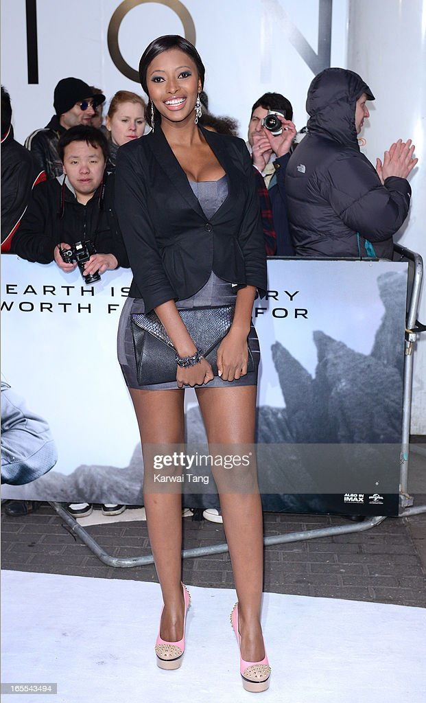 Sinazo Yolwa attends the UK premiere of 'Oblivion' at BFI IMAX on April 4, 2013 in London, England.