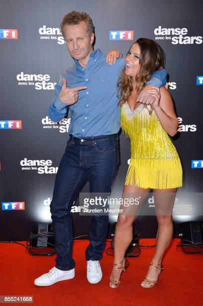 Sinclair and Denitsa Ikonomova attend the 'Danse avec les Stars' photocall at TF1 on September 28 2017 in Paris France