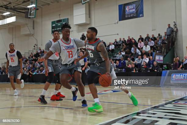 Sindarius Thornwell drives to the basket during the NBA Draft Combine Day 2 at the Quest Multisport Center on May 12 2017 in Chicago Illinois NOTE TO...