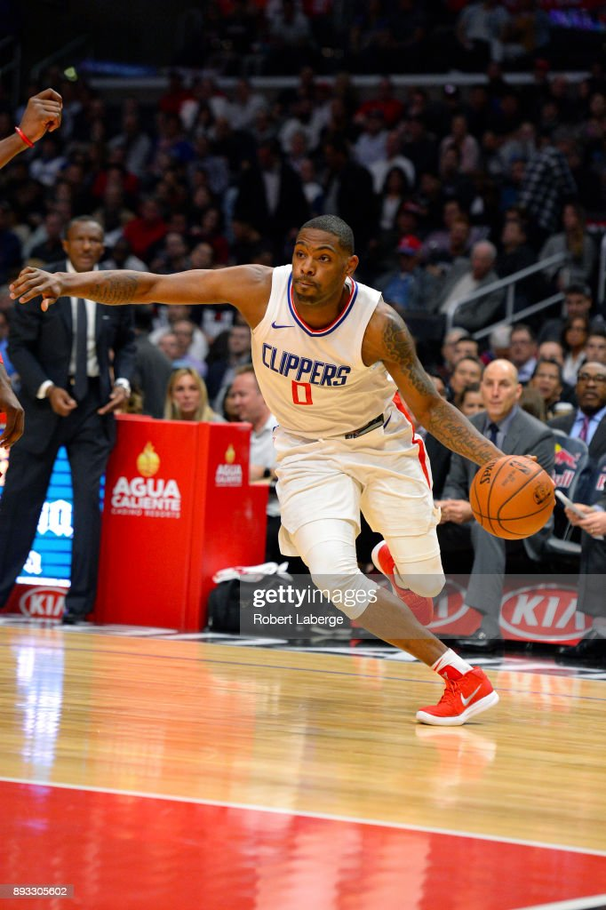 Sindarius Thornwell #0 of the Los Angeles Clippers plays against the Toronto Raptors on December 11, 2017 at STAPLES Center in Los Angeles, California.