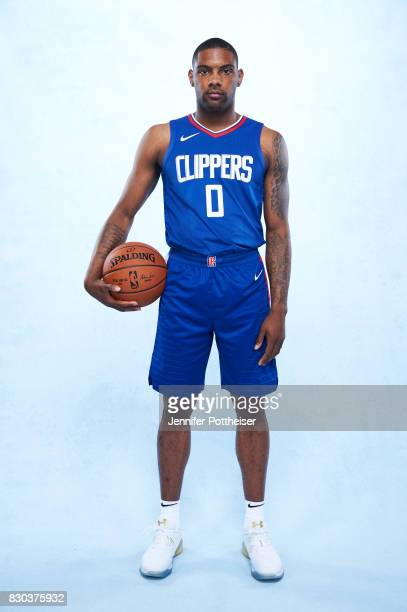 Sindarius Thornwell of the Los Angeles Clippers poses for a photo during the 2017 NBA Rookie Shoot on August 11 2017 at the Madison Square Garden...
