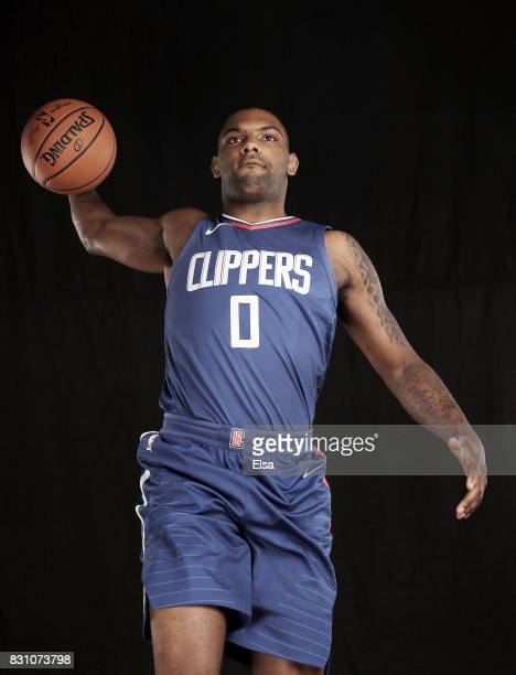 Sindarius Thornwell of the Los Angeles Clippers poses for a portrait during the 2017 NBA Rookie Photo Shoot at MSG Training Center on August 11 2017...