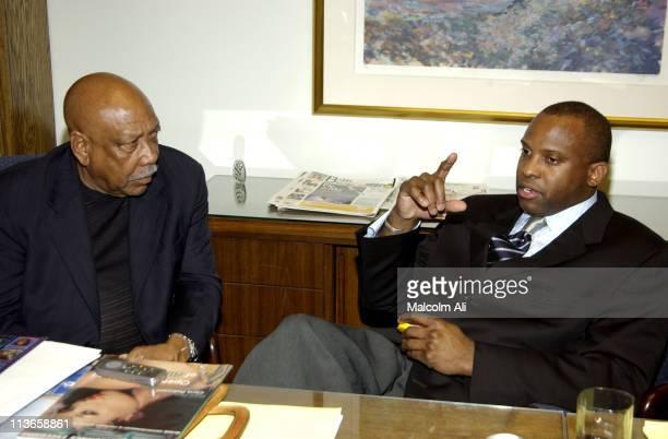Sindey Miller and Antonio Demetrius Brown during Antonio Demetrius Brown Talks with the Press Regarding Michael Jackson's Newest Video Filmed at CMX...