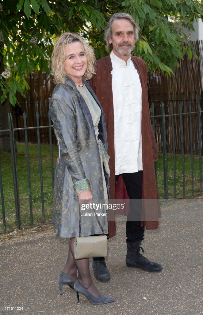Sinead Cusack and Jeremey Irons attend the annual Serpentine Gallery summer party at The Serpentine Gallery on June 26, 2013 in London, England.