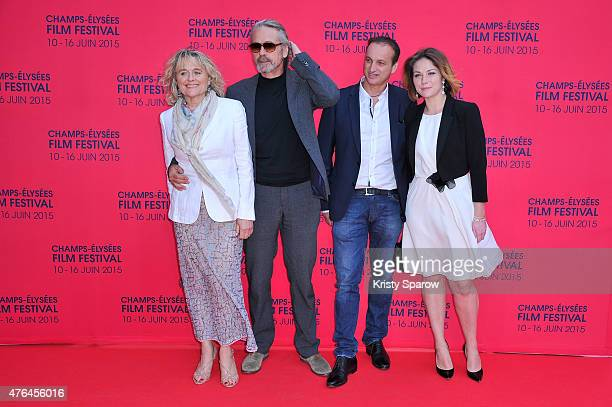 Sinead Cusack Jeremy Irons Michel Ferracci and Emilie Dequenne attend the 4th Champs Elysees Film Festival Opening Ceremony and Valley of Love...