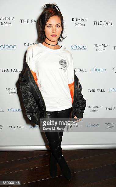 Sinead Harnett attends The Fall Magazine launch party in the Rumpus Room at Mondrian London on January 18 2017 in London England