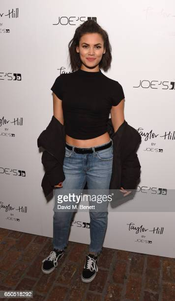 Sinead Harnett attends the Taylor Hill x Joe's Jeans party celebrating the Spring/Summer 2017 campaign at Shoreditch House on March 9 2017 in London...