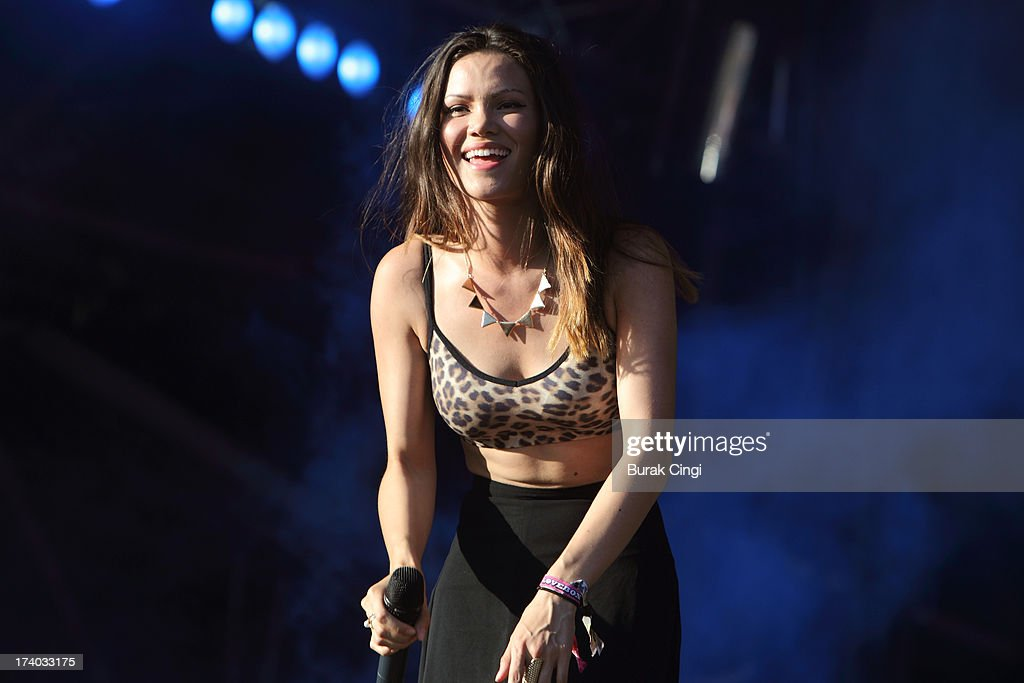 Sinead Harnett of Rudimental performs on stage at Victoria Park on July 19, 2013 in London, England.