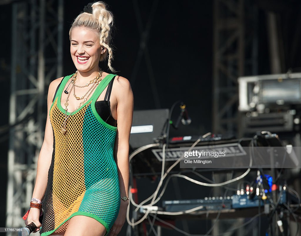 Sinead Harnett of rudimental performs on stage on Day 1 of Global Gathering 2013 on July 27, 2013 in Stratford-upon-Avon, England.