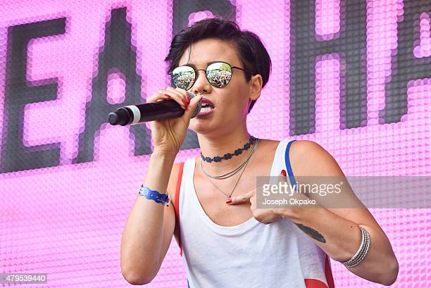 Sinead Harnett performs on Day 2 of the New Look Wireless Festival at Finsbury Park on July 3 2015 in London England