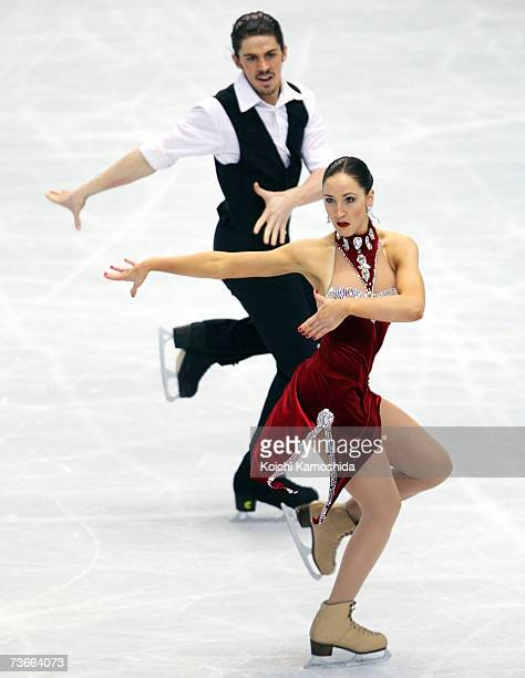 Sinead Kerr and John Kerr from Great Britain compete in the original dance portion of the ice dancing competition during the World Figure Skating...