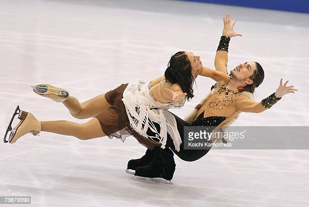 Sinead Kerr and John Kerr of Great Britain skate during the ice dancing free dance at the World Figure Skating Championships at the Tokyo Gymnasium...