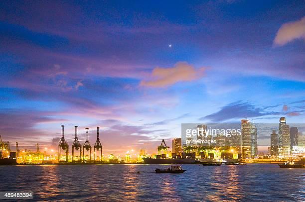 Singapour au coucher du soleil
