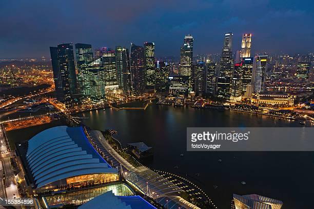 Singapore at night Marina Bay illuminated
