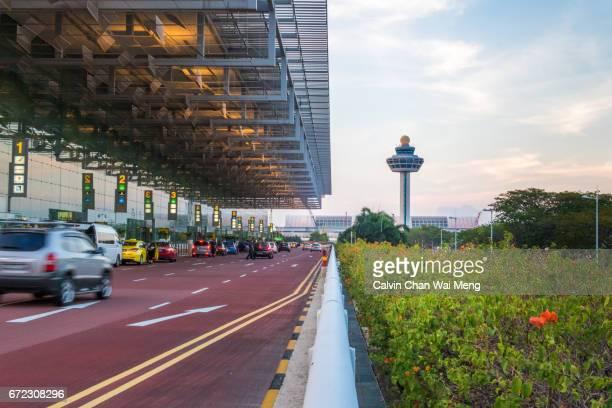 Singapore Changi Airport departure driveway
