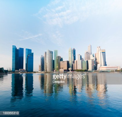 Singapore City Skyline and Marina Bay