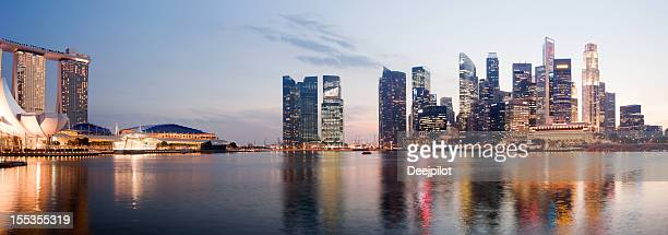 Singapore City Skyline and Marina Bay