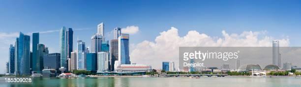Singapour sur la ville et la baie