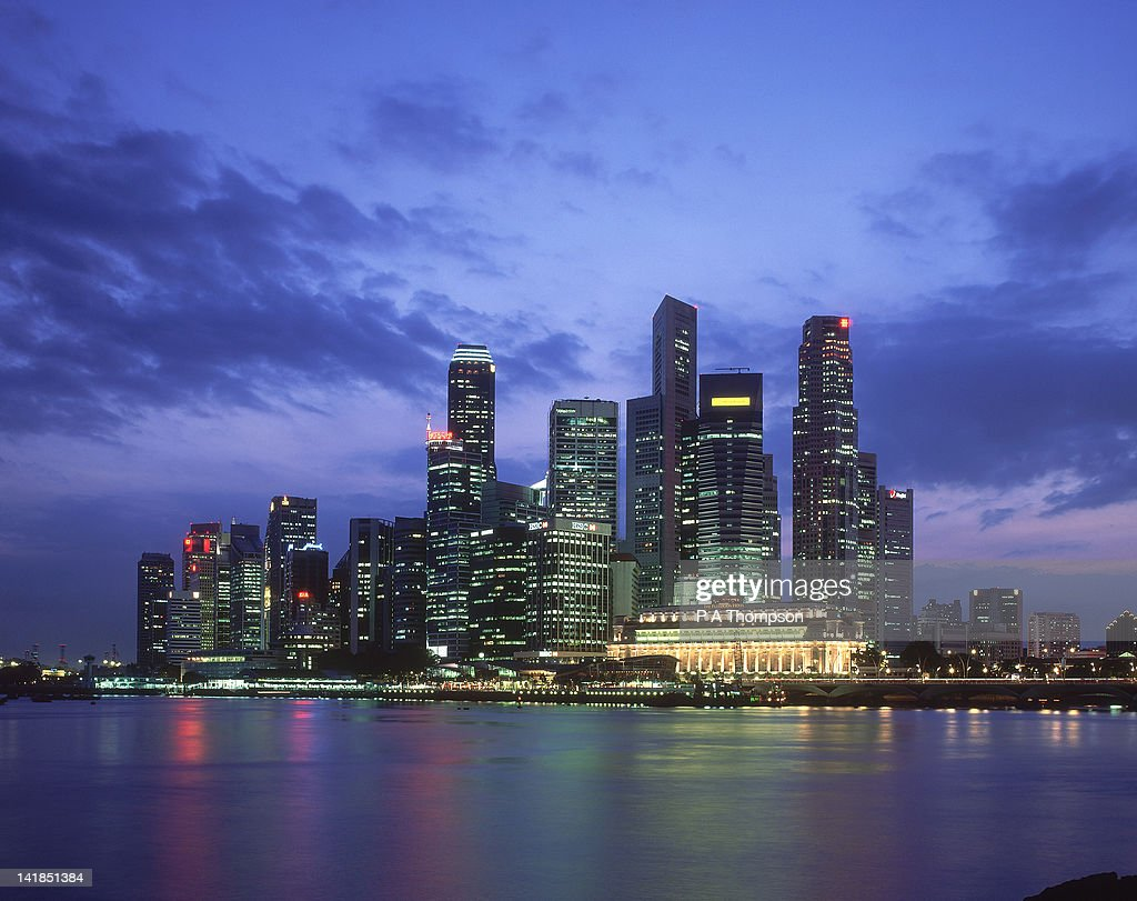 Singapore city skyline : Stock Photo