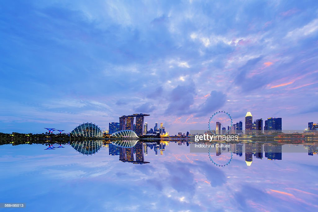 Singapore Cityscape at blue hour