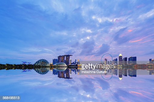Singapore Cityscape at blue hour